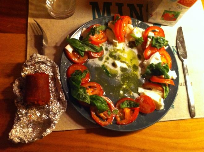 Caprese Salad with 'Nduja