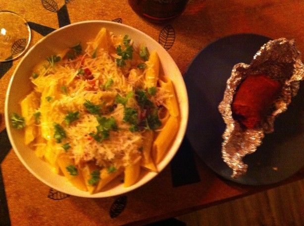 Cooking with: Macaroni Neapolitan sauce with mozzarella and 'Nduja