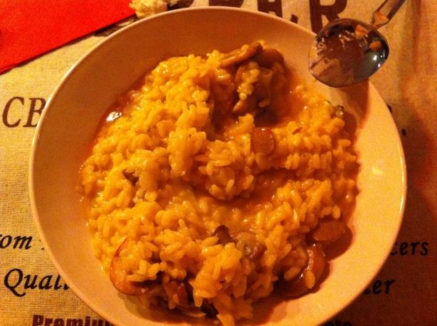 risotto milanese dish