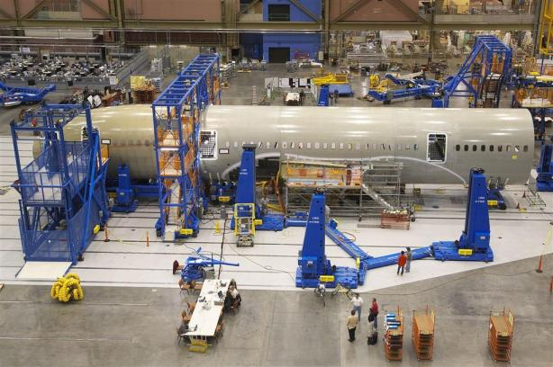 assembling an aeroplane