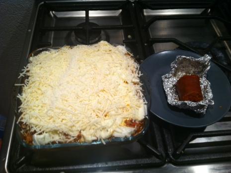 lasagna  bolognese with 'nduja